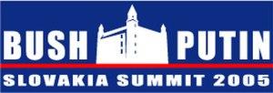 Slovakia Summit 2005 - Image: Slovakia Summit logo