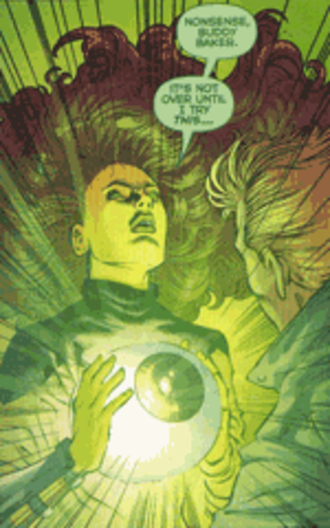 Emerald Empress - Starfire wielding the Emerald Eye in 52