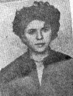 Bucharest student movement of 1956 - Steliana Pogorilovschi, student at the Faculty of Journalism, sentenced to 2 years' imprisonment