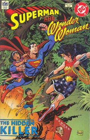 Superman and Wonder Woman: The Hidden Killer - English-language cover of Superman and Wonder Woman – the Hidden Killer (1993).