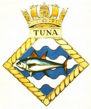 HMS Tuna (N94) - Image: TUNA badge 1