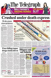 <i>The Telegraph</i> (Calcutta) Indian daily newspaper