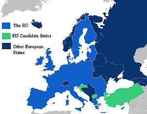 European countries according to the EU