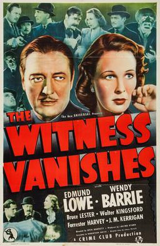 The Witness Vanishes - Poster for the film