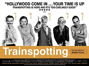 Film poster for Trainspotting (film) - Copyrig...