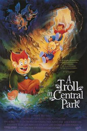 A Troll in Central Park - Theatrical release poster by John Alvin.