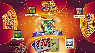 Uno (video game) - Screenshot of Uno for Xbox 360 version.