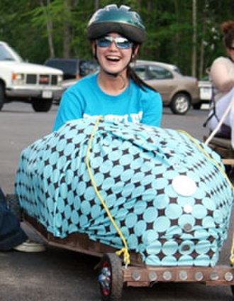 University of Texas at Tyler - Student rides in car made during art class