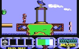 M.A.S.K. - Screenshot from the Commodore 64 version of M.A.S.K. III: Venom Strikes Back