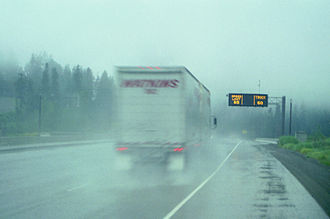 Snoqualmie Pass - Variable speed limit sign along I-90