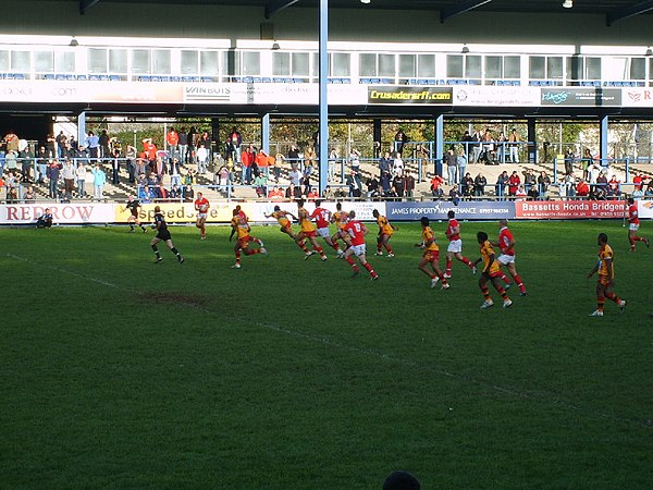Wales played Papua New Guinea on the Kumuls tour of Europe. The match finished 50-10 in favour of Wales. WalesPNGRL.JPG