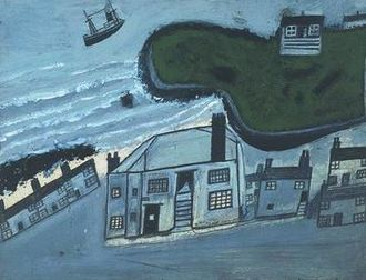 Alfred Wallis - The Hold House Port Mear Square Island Port Mear Beach, circa 1932, Tate Gallery.
