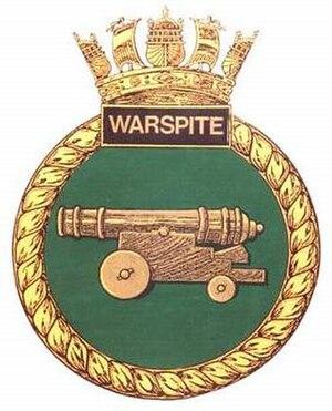 HMS Warspite (S103) - Image: Warspite Crest