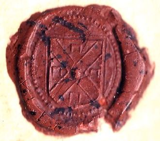 William Stoughton (judge) - Stoughton's personal seal, as it appeared on the warrant for the execution of Bridget Bishop