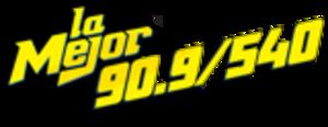 XHHS-FM - Image: XHHS La Mejor 90.9 540 logo
