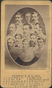 Cabinet card of the 1871 Washington Olympics