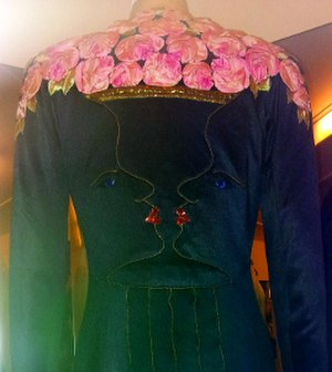 Elsa Schiaparelli - Evening coat designed in collaboration with Jean Cocteau, London, 1937. V&A, T.59-2005.