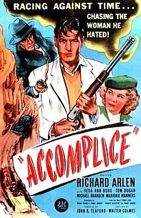 <i>Accomplice</i> (film) 1946 black-and-white film directed by Walter Colmes