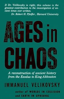 <i>Ages in Chaos</i> book by Immanuel Velikovsky
