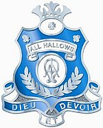 Crest of All Hallows' School
