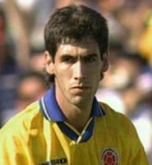 Andrés Escobar - Escobar playing for Colombia at the 1994 FIFA World Cup against the United States