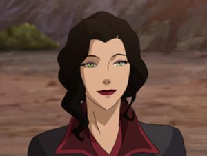 Asami Sato - Asami Sato as she appeared in season four; three years older, a bit taller, and with a changed hairstyle.