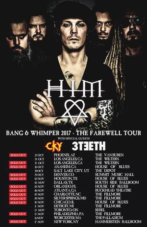 Bang and Whimper 2017 - The Farewell Tour - Promotional poster for the North American leg of the tour