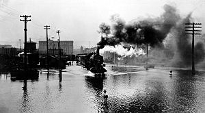 Floods in the United States: 1901–2000 - Flooding in Battle Creek – 1908