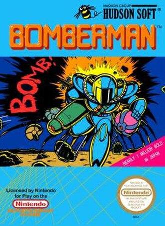 Bomberman (1983 video game) - 1989 North American NES box art