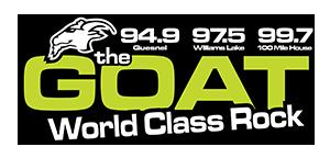 CFFM-FM - Image: CFFM the GOAT94.9 97.5 99.7 logo