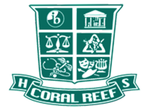 Coral Reef Senior High School - Image: CRHS Crest wo white