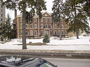 Champlain Valley Hall, the oldest building on campus.