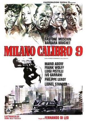 Caliber 9 - Image: Caliber 9 Italian poster