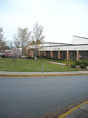 Campbell High School (Georgia) - The current Main Entrance of Campbell High, the Nash Entrance and 2000 Building visible on horizon