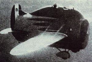 Stipa-Caproni - The Stipa-Caproni, piloted by Caproni company test pilot Domenico Antonini, on a test flight on 7 October 1932.
