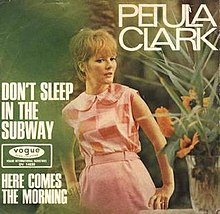 Image result for don't sleep in the subway petula clark pictures