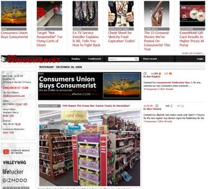 Consumerist - Image: Consumerist homepage 20081231