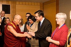 Robert V. Taylor - Image: Dalai Lama w RVT