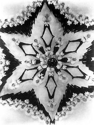 Busby Berkeley - A typical Busby Berkeley geometrical arrangement of dancers, from Dames (1934).
