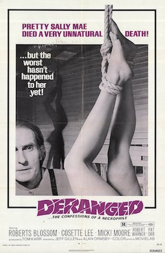 Deranged (1974 film) - US theatrical poster
