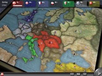 Diplomacy (game) - Screenshot from the Paradox computer game