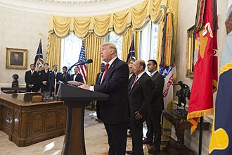 Minority Business Development Agency - President Trump with 2017 National MED Week Award Winners in the Oval Office