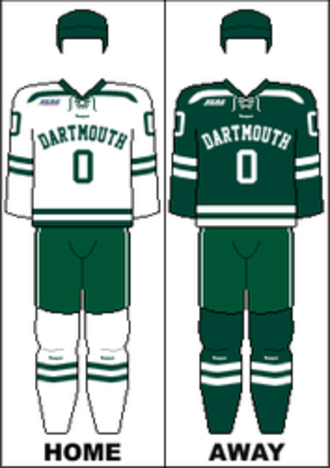 Dartmouth Big Green men's ice hockey - Image: ECAC Uniform Dartmouth