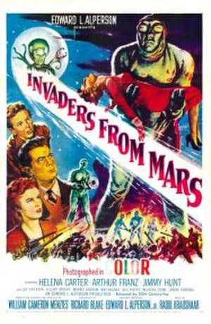 Invaders from Mars (1953 film) - Theatrical release poster