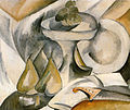 Georges Braque, 1908, Plate and Fruit Dish, oil on canvas, 46 x 55 cm, private collection.jpg