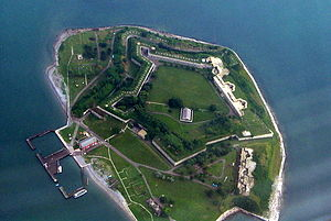 Georges Island (Massachusetts) - Georges Island from the air.