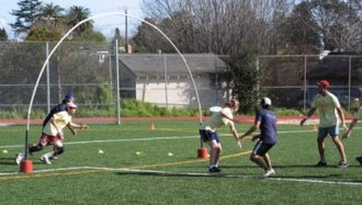 Goaltimate - Participants at play in a goaltimate game