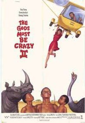 The Gods Must Be Crazy II - Theatrical release poster