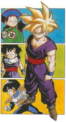 a307f6e94d8c89 Four different appearances of Gohan, drawn by Akira Toriyama.