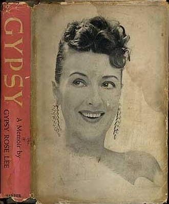 Gypsy: A Memoir - Front cover, with Gypsy Rose Lee